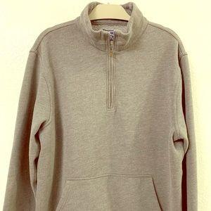 XL MEN JCrew Authentic Fleece Pullover Gray